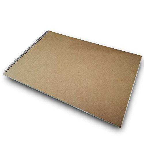 Eachgoo Espiral Encuadernación Cuaderno, Tapa Dura Cuaderno Dibujo (A3)