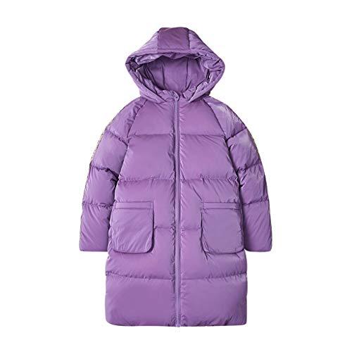 Légère Girl Puffer Veste Kids Zip Zip Off Bas Puffer Jacket Manteau Veste Puffer avec Hiver Quilthed Parsas Ski (Color : Blue, Taille : Large)