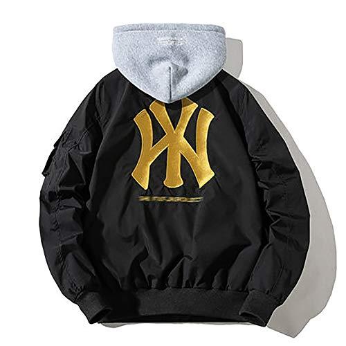 TIEON Herren und Damen Yankees Baseball Uniform Jacke Gepolsterte Baumwolle Gepolsterte Jacke H-XXXXL