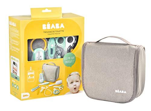BÉABA, Trousse de Toilette Bébé Nomade - 9 Accessoires dont Thermomètre de Bain, Thermomètre...