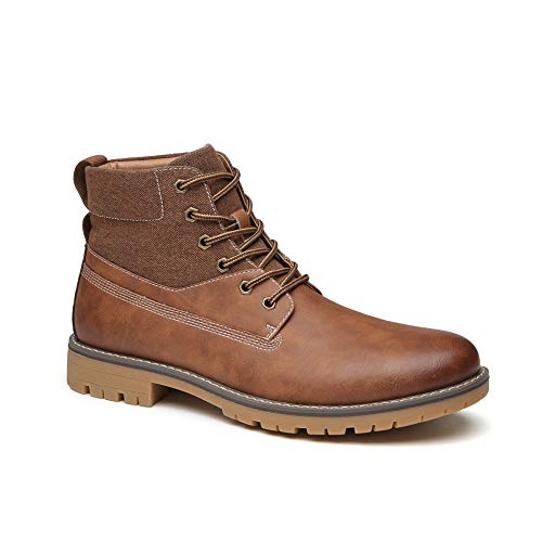 COTTIMO Mens Brown Casual Chukka Boots Fashion Non-Slip Comfort Lightweight Work Boot for Men