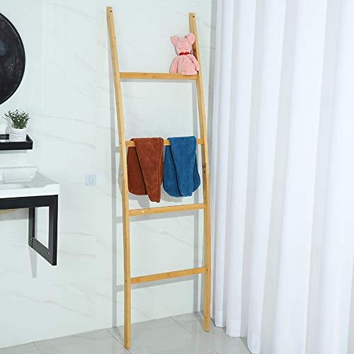 Porte-serviettes en bambou 4 barres
