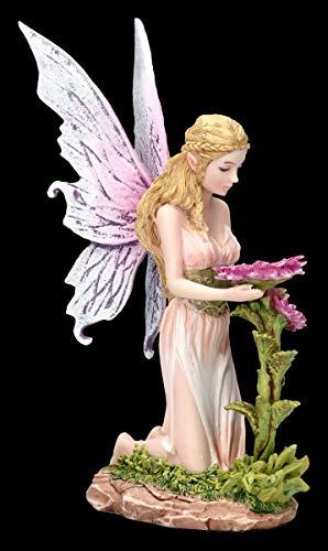 Elfen Figur - Florina kniet vor Blume | Fee, Fairy, Engel, Deko-Figur, Deko-Artikel, Statue, Skulptur, H 15 cm