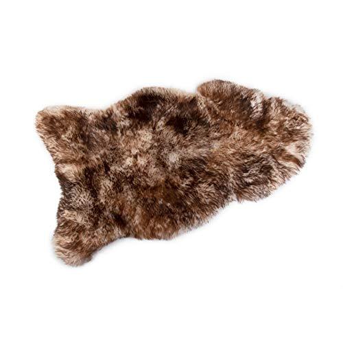 Alpenfell Island Schaffell Lammfell geflammt groß Merinoschaf 120-130cm echtes Fell ökologische Gerbung