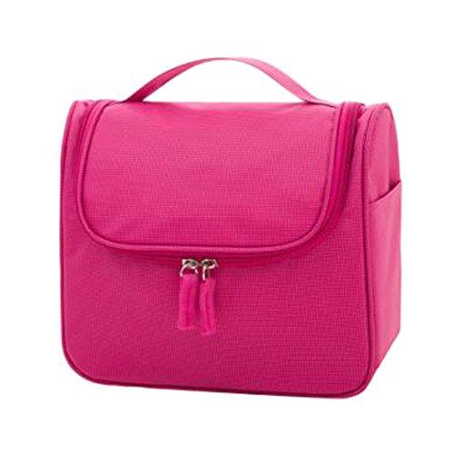 Portable sacs de maquillage de grande capacité sac cosmétique boîte de maquillage, Rose rouge