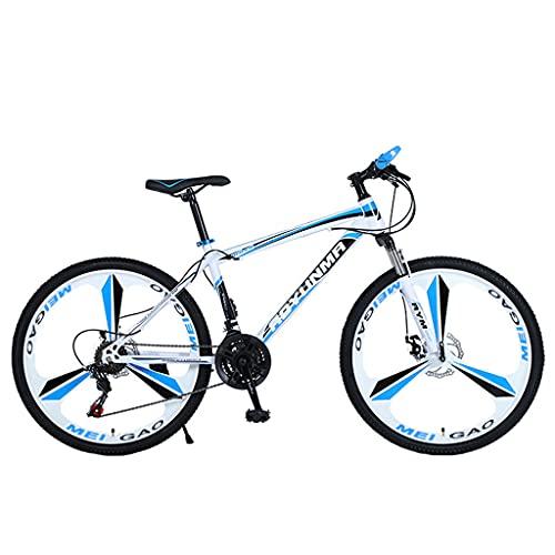 Mountain Bike Bicicleta de Velocidad Variable Todoterreno para Adultos al Aire Libre (24/26 Pulgadas 21/24/27 velocidades Blanco Azul; Negro Rojo; Negro Verde; Blanco y Negro)