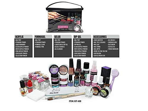 Mia Secret Professional Academic Nail Kit for Acrylic, Formagel,Gelux & Dip Gel Set For Beginners - Students (Kit-A08)