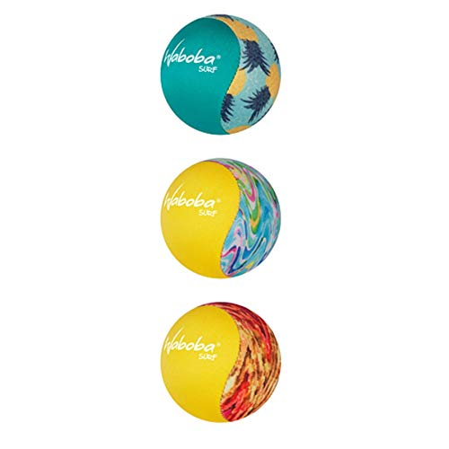 Wabobas 3er Set Surf Bouncing Ball Beach Pool Spielzeug Design Keep Life Fun
