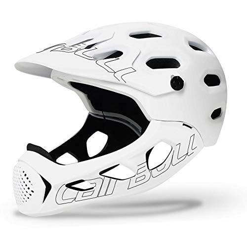 Fahrradhelm, MTB Helm Erwachsene, Verstellbar Radhelm mit Abnehmbarem Visier und Kinnschutz für Cb-49 ALLCROSS (56-62cm)