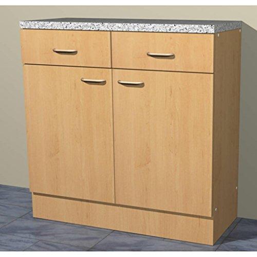 Küchenschrank Mehrzweckschrank in verschiedenen Breiten Start Melamin Buche/Buche (80cm breit)