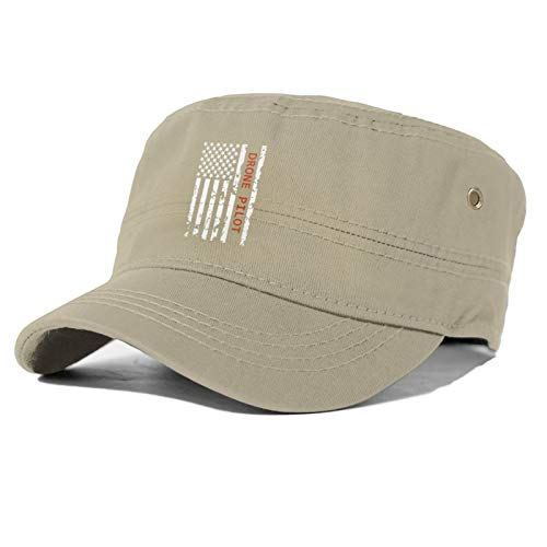 jawass Drone Pilot USA Flag Simple Flat Cap Woman's Men Casual Baseball Hat