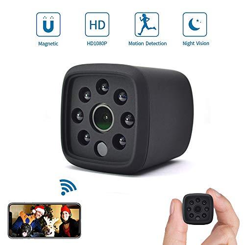 WXJHA Mini Macchina Fotografica dell'interno WiFi 1080P IP Camera Wireless Cam HD con sensore di Movimento videocamera rilevazione di Movimento di Visione Notturna di Allarme per Sicurezza Domestica