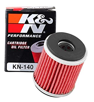 K&N Motorcycle Oil Filter  High Performance Premium Designed to be used with Synthetic or Conventional Oils  Fits Select Yamaha Motorcycles KN-140