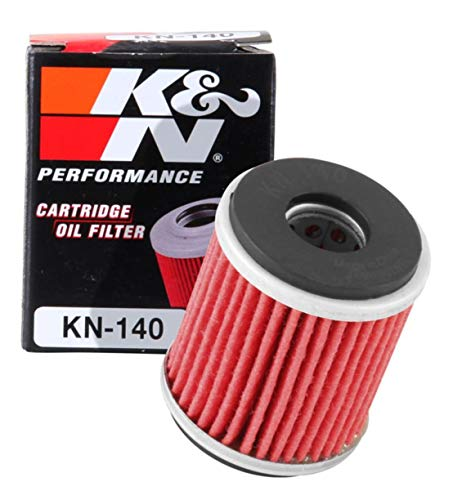 K&N Motorcycle Oil Filter: High Performance, Premium, Designed to be used with Synthetic or Conventional Oils: Fits Select Yamaha Motorcycles, KN-140