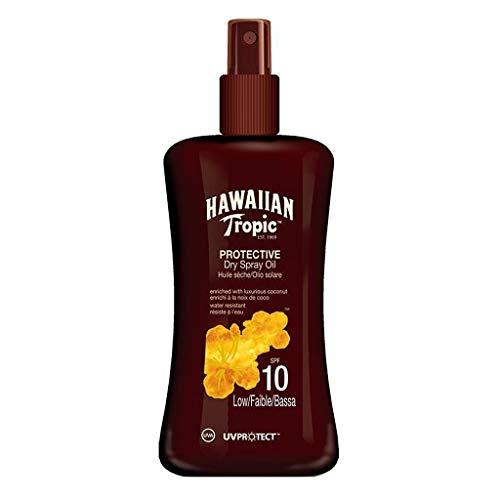 Hawaiian Tropic Protective Dry Spray Oil SPF 10 Coconut 200ml (lot de 2)