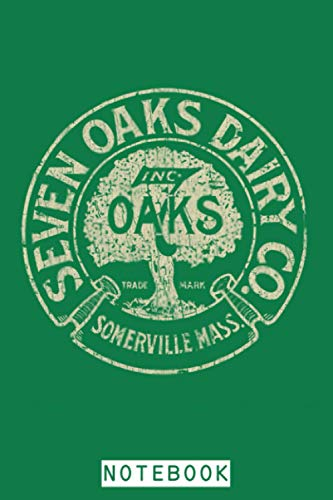 Seven Oaks Dairy Co. 1918 Notebook: Lined College Ruled Paper, Journal, Matte Finish Cover, 6x9 120 Pages, Diary, Planner