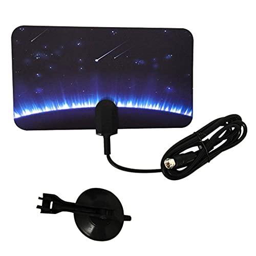 Fltaheroo Antena de TV 4K 1080P HD para interiores de TV digital Antena HDTV para interiores Cable coaxial para canales locales