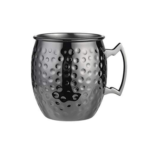 Tazas de Cobre de Moscow Mule Taza de Acero Inoxidable Artesanal 304 Copa de Cóctel Tazas de Cerveza 18 Oz Regalo Premium para Amantes de Las Bebidas