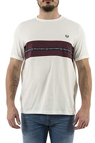Fred Perry - Camiseta Hombre Manga Corta 4213 129 - XL, Blan