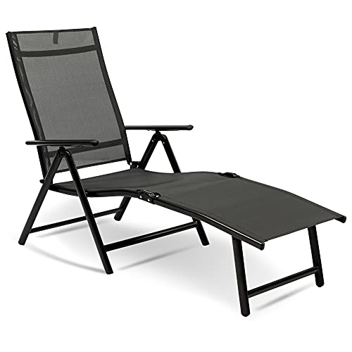 MaxxGarden - Tumbona plegable para el sol (190 x 58 x 85 cm)