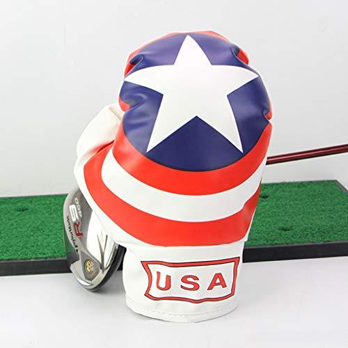 SJJOZZ Golf Nr. 1 Wood Pole Set Queue Cover Schutzhüllen Boxhandschuhe Style Two Styles (Color : Red)