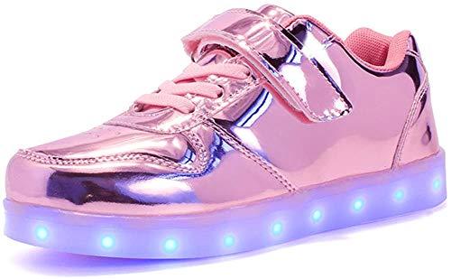 Aizeroth-UK LED Zapatos Verano Ligero Transpirable Bajo 7 Colores USB Carga Luminosas Flash Deporte de Zapatillas con Luces Los Mejores Regalos para Niños Cumpleaños