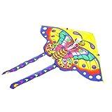 MJC Los niños Kite Cometa, Cometa Niños Diversión Cometas for niños fácil de Volar con Deportes al Aire Libre del triángulo de la Mariposa de la Cometa Brisa (Color : Color)