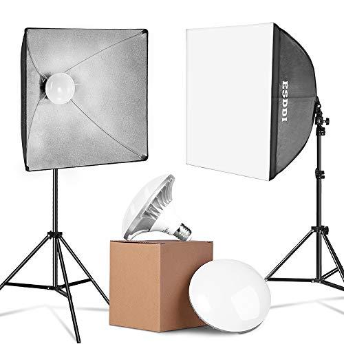 Sainlogic - Juego de sombrillas para fotografía, iluminación para Estudio de fotografía (luz Suave, 135 W, 5500 K, lámpara de luz de día para Retratos de Estudio)