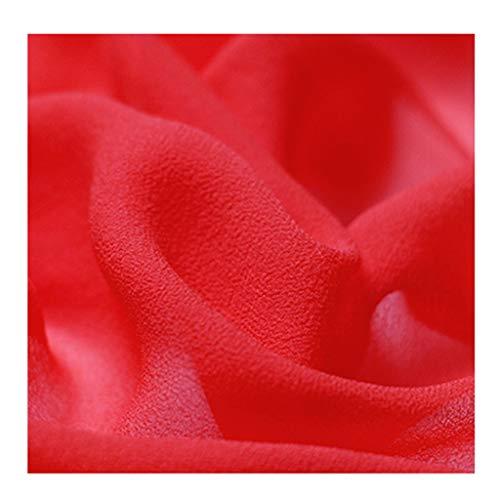 yankai Seidentaft Stoff Stoff Reine Farbe Seide Garn Stoff Kleid Seide Schal Transparent Seidenraupe Seide Damen Futter Breite 1,5M NIU