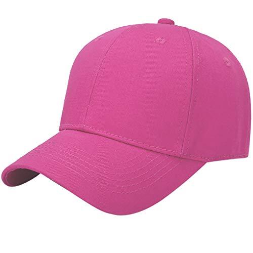 Hut für Herren, Skxinn Baseball Cap Unisex Baseball Kappe Army Cap Mütze Classic Hat Verstellbar Hut für Tennis Golf Laufen Wandern Reisen Angeln Herren Damen Ausverkauf(Pink,56-60cm)