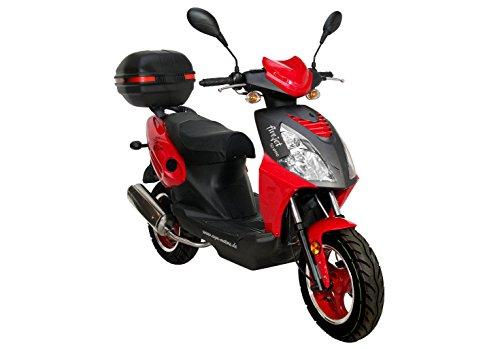 Motorroller Roller Firejet 25 One rot Mofa + Topcase 1,8 KW / 2,4 PS / Luftgekühlt / Alufelgen / Gepäckträger / Scheibenbremse / Teleskopgabel Hydraulisch / ab 15 Jahren
