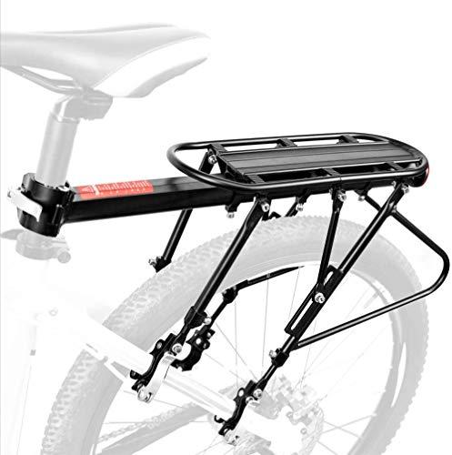 Mountainbike Gepäckträger Rennrad Heckrahmen etc Einstellbare Träger Fahrrad Gepäckträger maximale Zuladung50 kg Aluminiumlegierung Schnellmontage mit Reflektor