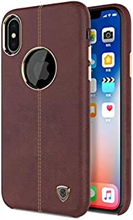 Back Cover by Nillkin Englon for APPLE iPhone X - Brown