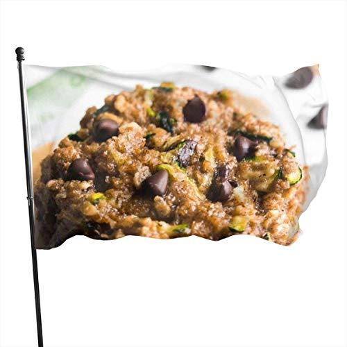 Chocolate Chip Zucchini Brot Haferkekse Fly Breeze 3x5 Fuß Polyester Flagge Fade Resistant Durable Beach Flags mit Header und Messing Tülle einfach zu bedienen