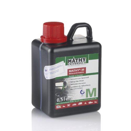 MATHY-M Motoröl Additiv 500 ml - Ölzusatz Motor - TÜV geprüfter Verschleißschutz für alle Otto- und Dieselmotoren - Einsetzbar in Allen Motorenölen - Longlife Motorschutz