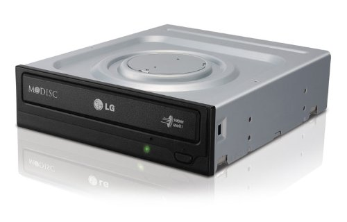 LG GH24NS95 - Grabador de DVD Interno Super Multi de 24x con Soporte M-Disc, Negro