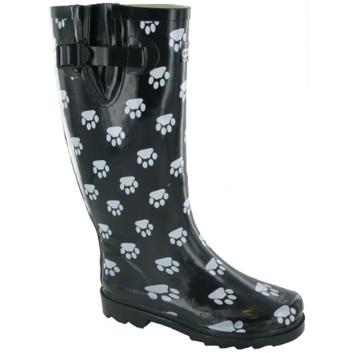 Cotswold Collection Dog Paw Welly/Womens Boots (7 US) (Black)