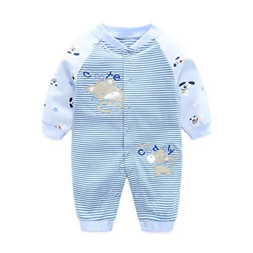 PROTAURI Tutine Neonato - Bambino Piccolo Ragazzi Ragazze Cotone Tutina Jumpsuit Manica Lunga Pigiama Pagliaccetto Neonato per 0-3 Mesi