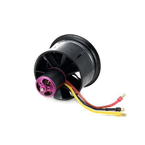 Powerfun EDF 64mm 11 Blades Ducted Fan with 3900KV 3S RC Brushless Motor Balance Tested for EDF 3S RC Jet Airplane