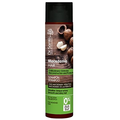 Champú Dr. Sante Macadamia para cabello débil con queratina, 250 ml