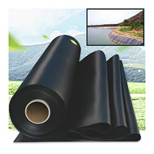 GDMING Gummi Teichfolien HDPE Reißfest Wasserdicht Stoff Zum Fischteich Bachbrunnen Und Wassergarten Landschaftsbau, 51 Größen (Color : Black, Size : 6x8m)