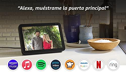 Echo Show 8 - Videollamadas con Alexa - Pantalla inteligente HD de 8' - Negro