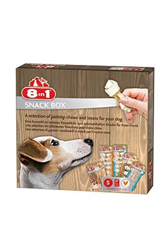 8in1 Snack-Box S für kleine Hunde, 5 x Premium Kauartikel / Leckerli, 309 g