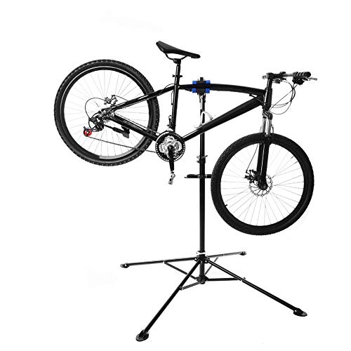 Wakects Soporte para montaje de bicicleta, soporte de reparación de 360°, plegable, telescópico, para reparación de bicicletas, accesorio de reparación