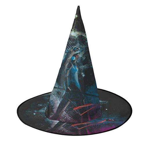 Sombrero de Halloween Princesa del Bosque Mononoke Sombrero de Bruja Halloween Disfraz Unisex para Vacaciones Halloween Navidad Fiesta de carnavales