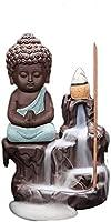 お香コーンリトルモンク小仏香炉逆流香炉ホームオフィスでの使用茶室家の装飾仏教用品ホームリビングルームDeacute; cor工芸品置物