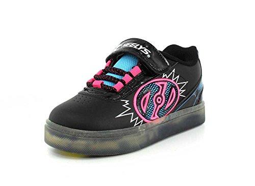 Heelys X2 Fitnessschuhe, Mehrfarbig (Black/Neon Blue/Neon Pink 000), 34 EU