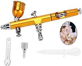 Gravity Feed Airbrush Gun, 0.2mm Gravity Trigger Feed Airbrush Gun Spray for Cake Decorating Temporary Tattoos Makeup Craf...