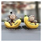 xczbb Décoration De Voiture 1 Set décoration de Voiture poupées Dessin animé Ornements Beaux Jouets de Mode Voiture de Mode (Color Name : Banana-Monkey-7cm, Size : B)