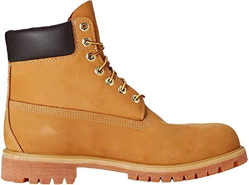 Timberland Timberland Herren 6 Inch Premium Waterproof Klassische Stiefel, Gelb (Wheat Nubuck), 43 EU